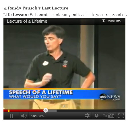 Pancreatic Cancer Randy Pausch