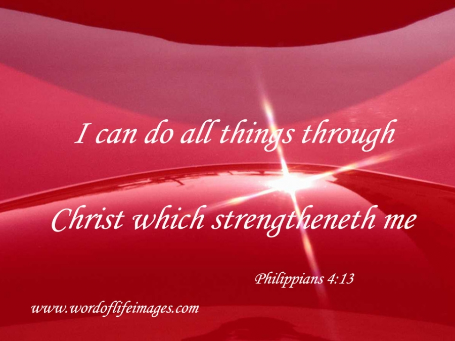 Christ who strengthens me