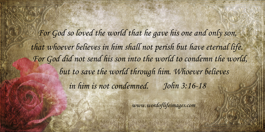 For God so loved the world he gave us both His Son to Die on the Cross for Us,